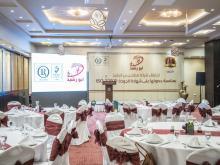 التجهيزات النهائية لقاعة الاحتفال بما يخدم العلامة التجارية لشركة مطاحن بن الرشيد